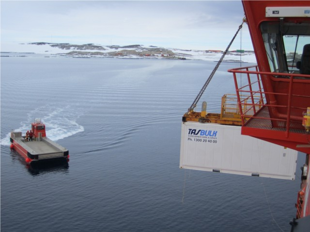 tasbulk 20ft reefer antarctica